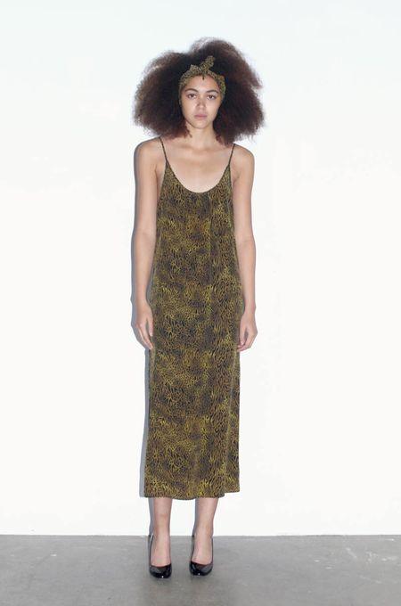 Strathcona Leopard Silk Slip Dress - Online Only