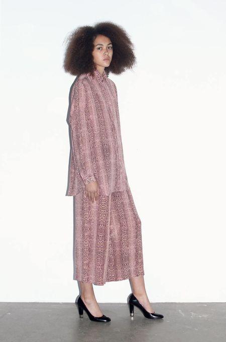 Strathcona Pink Snakeskin Unisex Silk Dress Shirt - Online Only