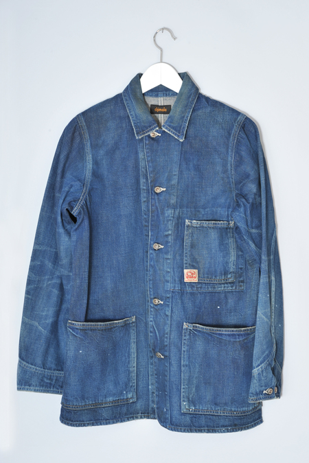 Chimala Dark Vintage Denim Work Chore Jacket by Chimala