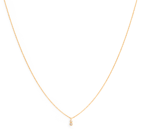 Satomi Kawakita 18K Double White Diamond Necklace