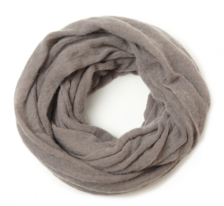 Unisex Botto Giuseppe Thick Taupe Cashmere Tube Scarf