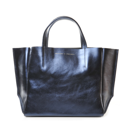 Ampersand As Apostrophe Blueberry Metallic Half Tote