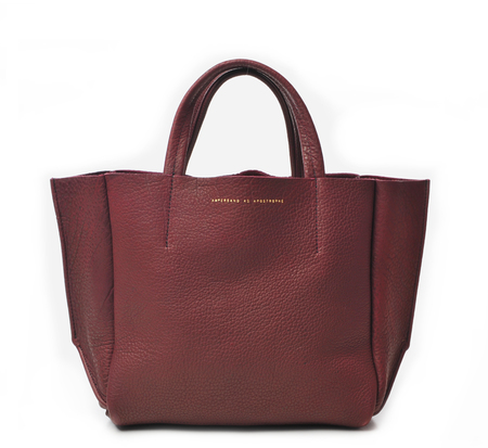 Ampersand As Apostrophe Oxblood Buffalo Half Tote