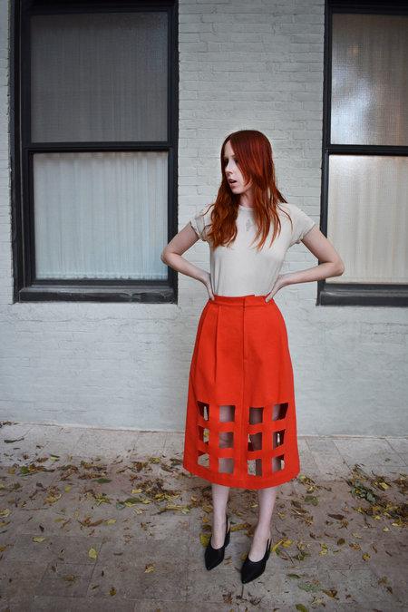 Nancy Stella Soto Denim Cutout Skirt