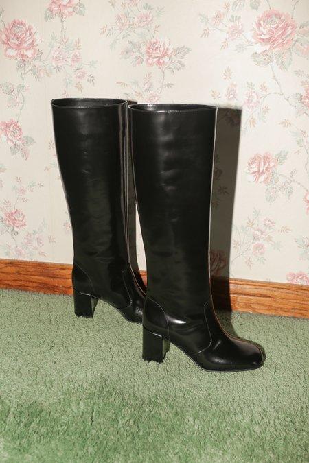 Maryam Nassir Zadeh Lune Boot in Black Shine