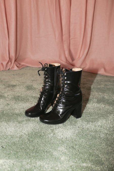Maryam Nassir Zadeh Emmanuelle Boot in Black Shine
