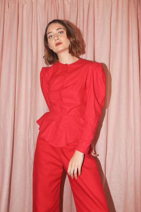Town Clothes Rosa Blouse in Red