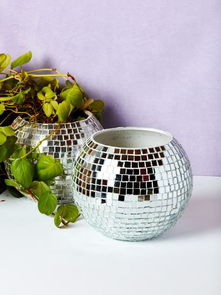 Chaparral Studio Disco Ball Planter