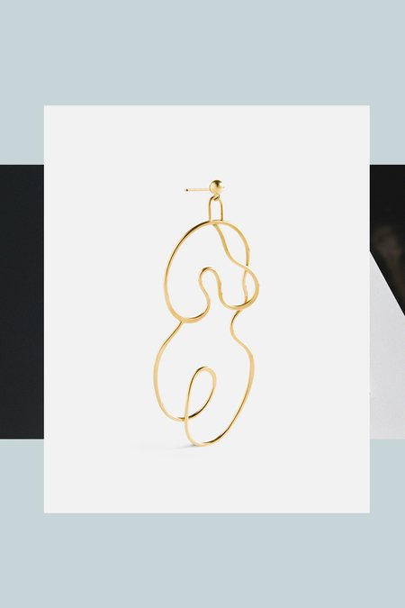 Knobbly Studio Nude No. 2 Earring Large