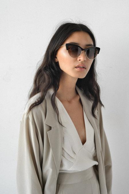 Kate Young for Tura Cecilia Sunglasses in Black