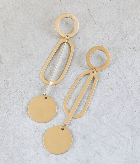 Modern Weaving Pendulum Earrings in Brass