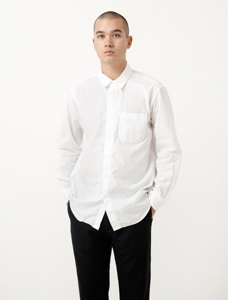 Engineered Garments Short Collar Shirt - White Broadcloth