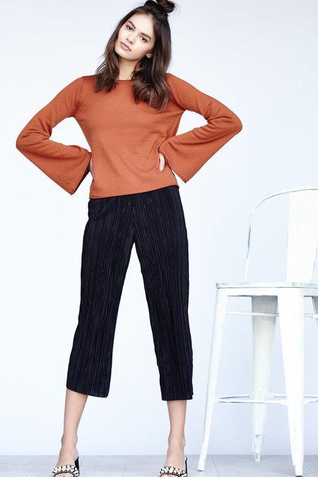 Callahan Fine Bell Sleeve Sweater - Rust
