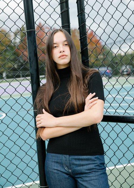 Penny Sage Modena Knit Top - Black