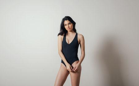 Shaina Mote Ligne Swimsuit in Black