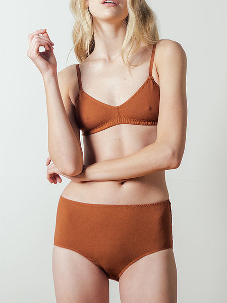 Pansy Bra in Rust