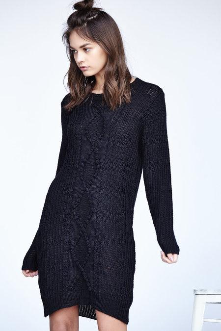 Callahan Nubby Cableknit Crewneck Dress