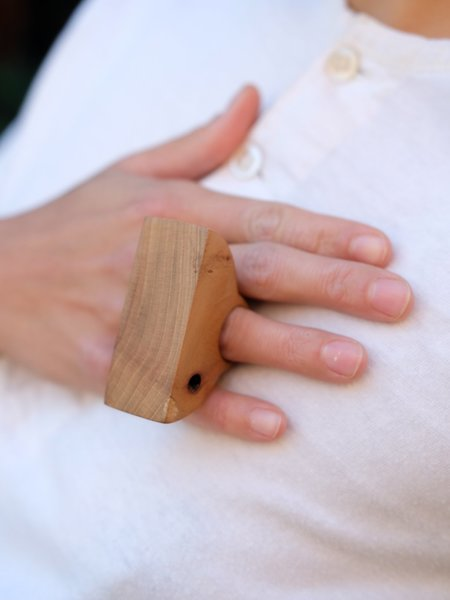 Paige Martin Woods Wood Block Ring