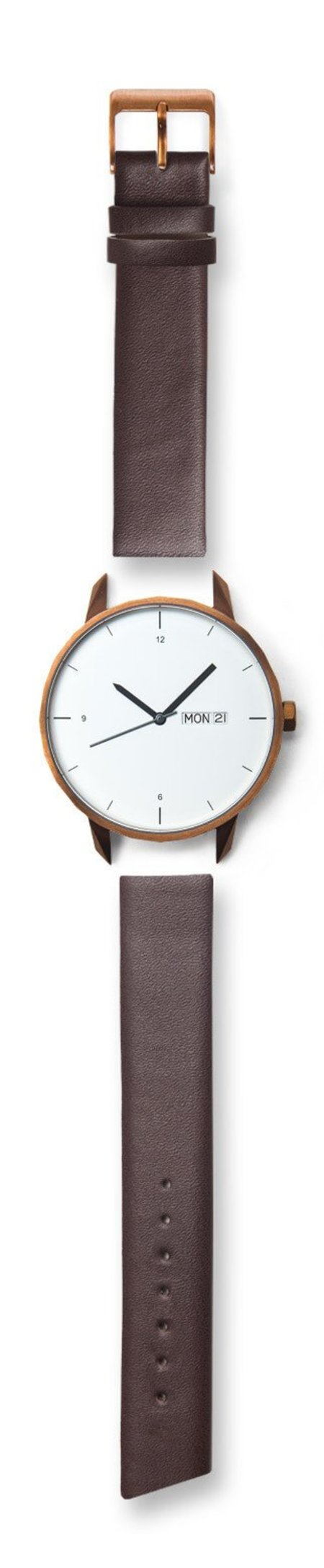 Tinker Watches 42mm Copper Watch Brown Strap
