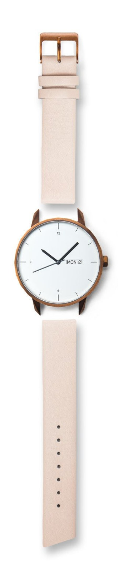 Tinker Watches 42mm Copper Watch Nude Strap