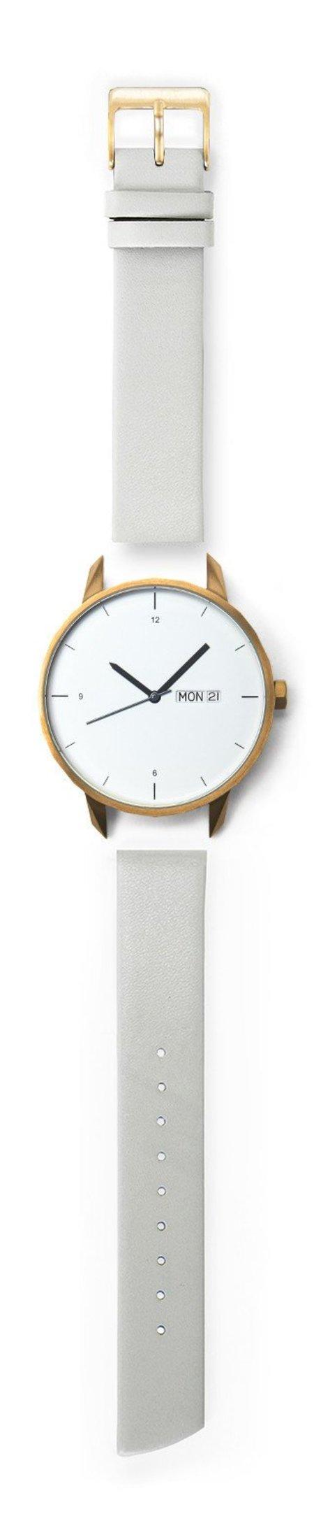 Unisex Tinker Watches 42mm Gold Watch Grey Strap