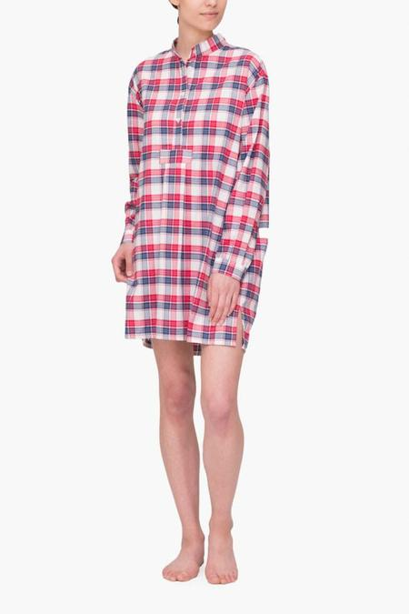 The Sleep Shirt Short Sleep Shirt Berry Plaid