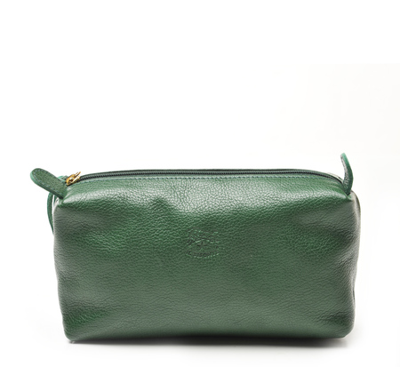Il Bisonte C0523 Green Beauty Case