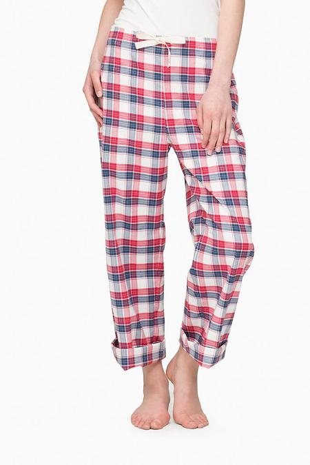 The Sleep Shirt Lounge Pant Berry Plaid
