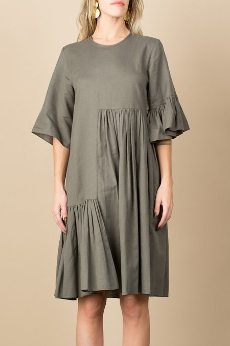 Correll Correll Coco Two Dress In Khaki Green