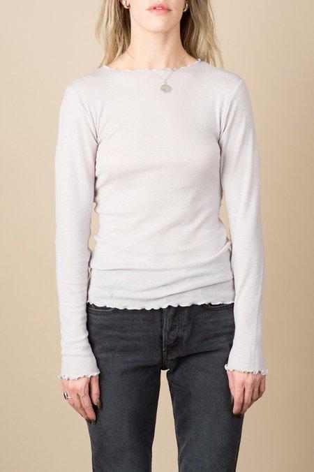 Baserange Oki Long Sleeve Soft Wool Jersey In Concrete Grey