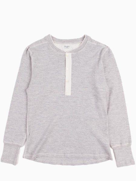 Homespun Coalminer Henley Wool + Cotton - Grey