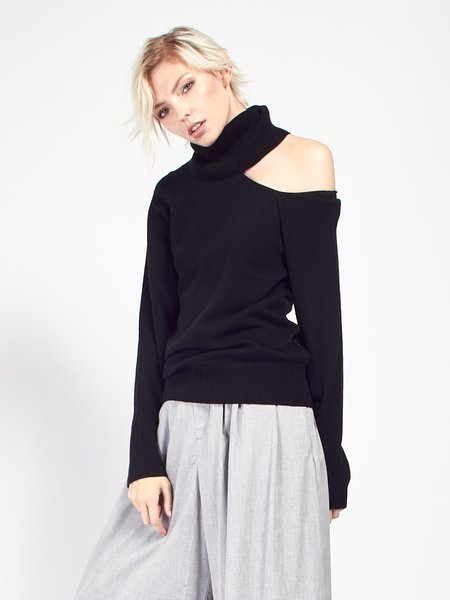 Skin Phoebe Sweater - Black