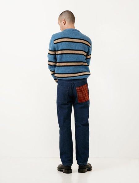 Marni Denim Trouser with Houndstooth Pocket