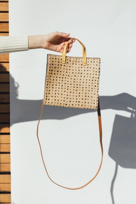 Clare V. Petit Simple Tote - Tan Spotted