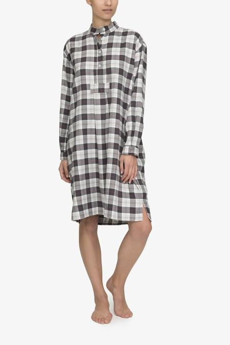 The Sleep Shirt Long Sleep Shirt - Grey Carnaby Plaid