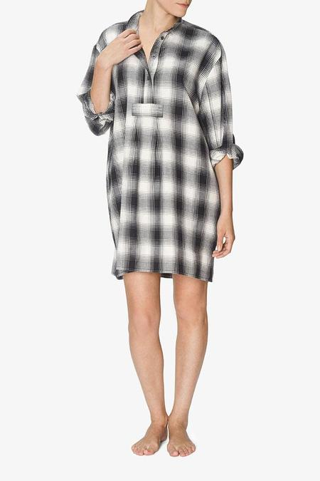 The Sleep Shirt Short Sleep Shirt - Black Glen Plaid