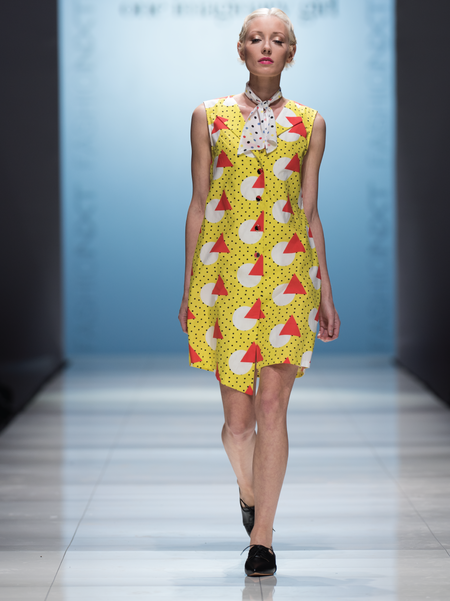 One Imaginary Girl Geometric Printed Vest Dress