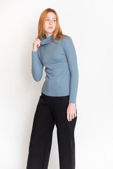 First Rite Rib Turtleneck - Sky Blue