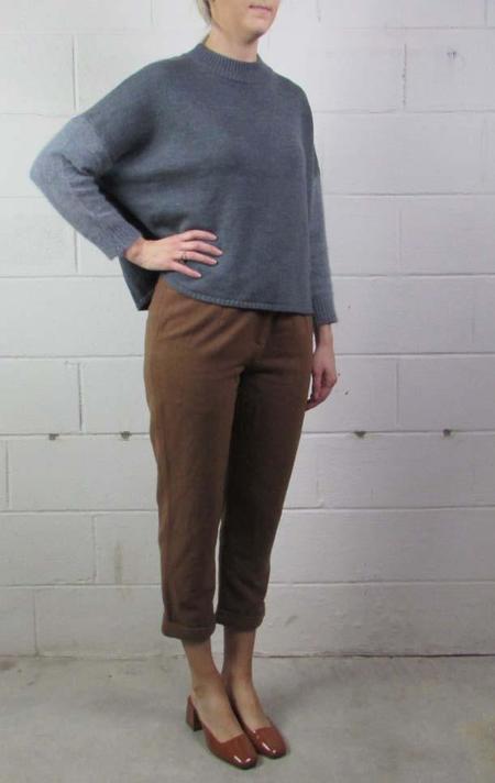 7115 by Szeki crewneck sweater - GRAY