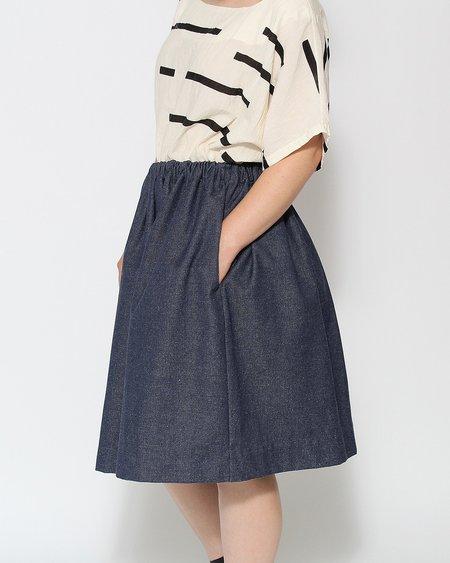 Le Vestiaire de Jeanne Uniform Collection Skirt - Blue Denim