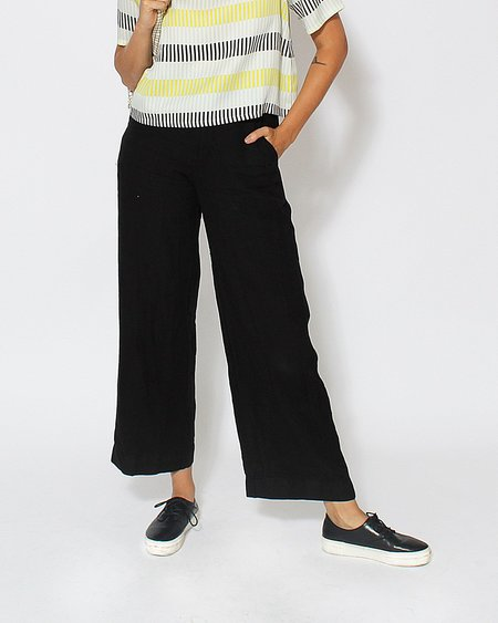 Esby Val Linen Pant in Black