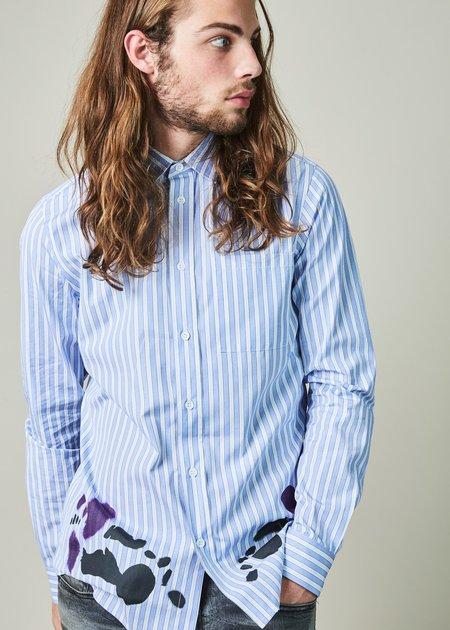 OAMC Moth Hem Print Shirt - Blue