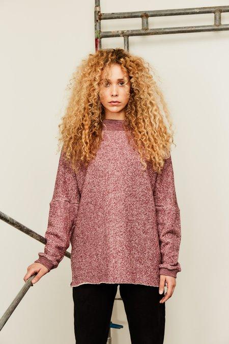 Devlyn Van Loon Boatneck Sweater - Heather Wine