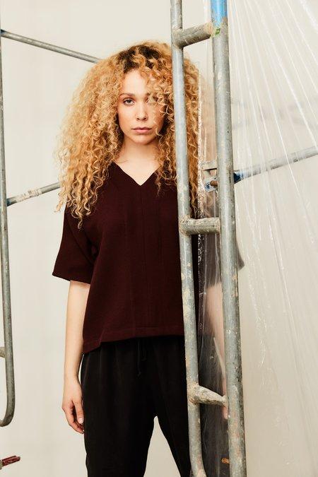 Devlyn Van Loon Elastic Back T - Wool Crepe