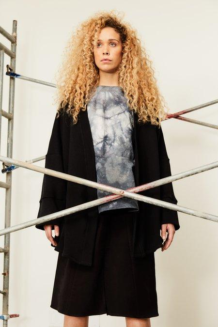 Devlyn Van Loon Knit Housecoat - Black