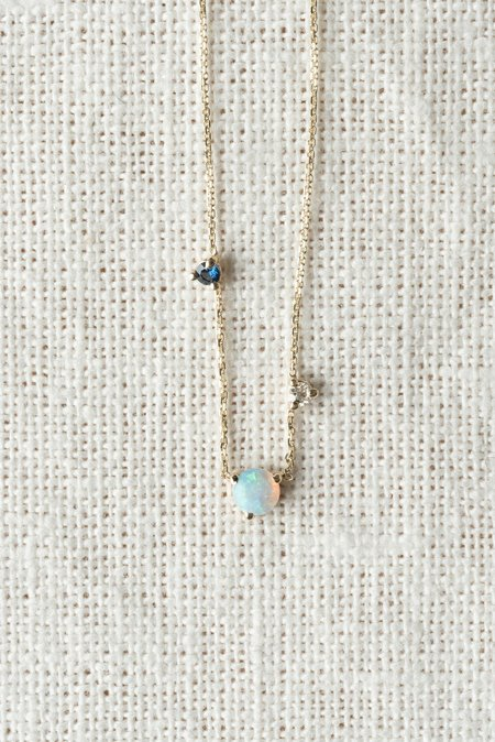 WWAKE Three Step Necklace In Opal