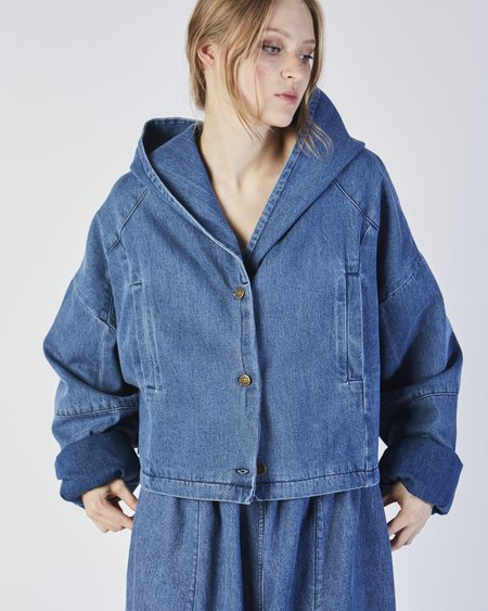 Unisex 69 cropped big boy denim jacket