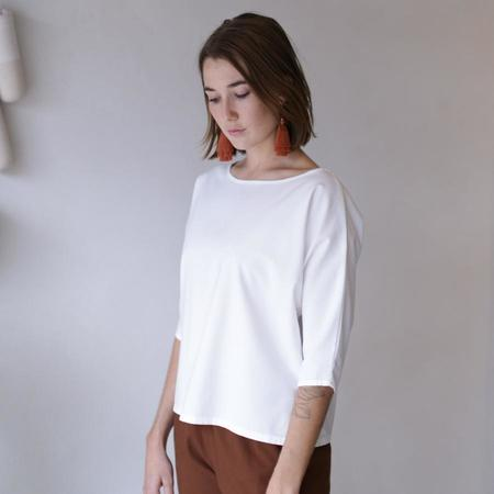 Me and Arrow Dolman Top - Bamboo White