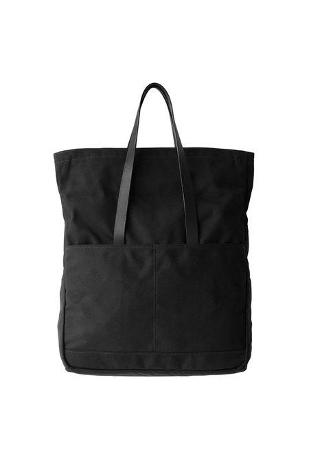 MAKR Canvas and Leather Fold Weekender Revised Bag - black