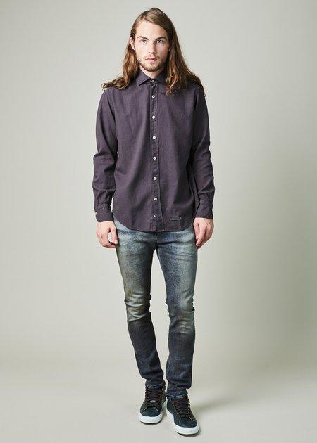 Tintoria Mattei 954 Contemporary Fit Wool Blend Shirt - Charcoal